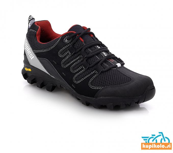 Kolesarski čevlji Offroad Vibram v črni in rjavi barvi